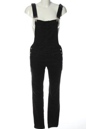Colloseum Jeansowe ogrodniczki czarny W stylu casual
