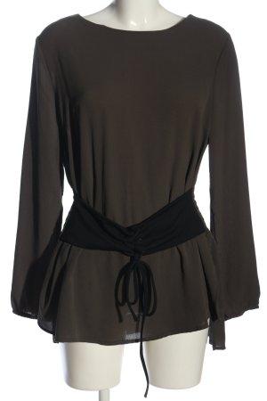 Colloseum Long-Bluse braun-schwarz Casual-Look