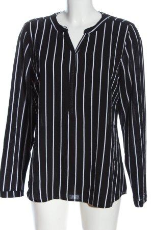 Colloseum Manica lunga nero-bianco motivo a righe stile casual