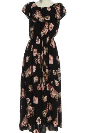 Colloseum Maxi abito nero-rosa stile casual