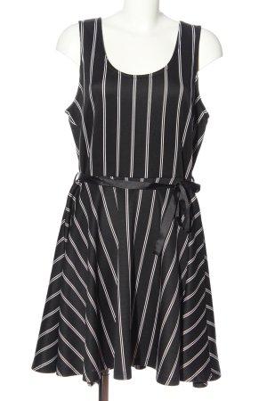Colloseum Minikleid schwarz-weiß Streifenmuster Elegant