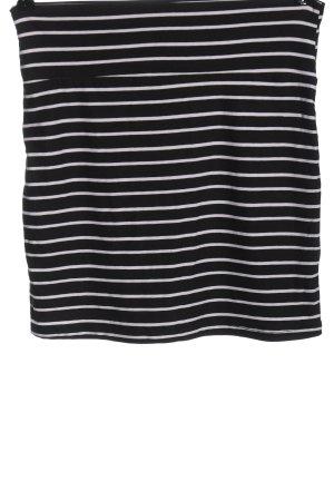 Colloseum Minigonna nero-bianco motivo a righe stile casual