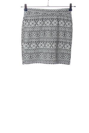 Colloseum Minigonna nero-bianco stampa integrale stile casual