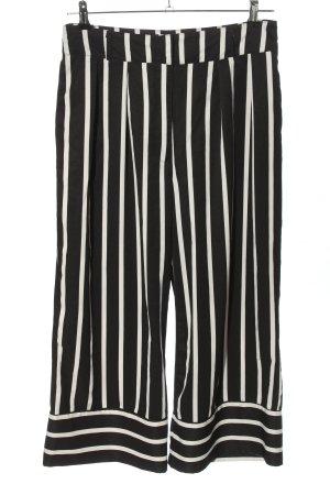 Colloseum Spodnie palazzo czarny-biały Wzór w paski W stylu casual