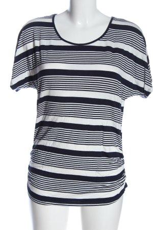 Colloseum Koszulka w paski czarny-biały Wzór w paski W stylu casual