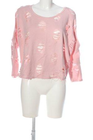 Colloseum Maglione girocollo rosa stile casual