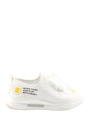 Colloseum Instapsneakers wit gedrukte letters casual uitstraling