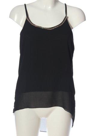 Colloseum Schlupf-Bluse schwarz extravaganter Stil