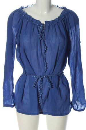 Colloseum Schlupf-Bluse blau Casual-Look