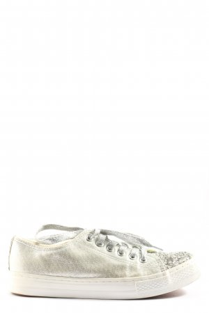 Colloseum Lace-Up Sneaker silver-colored wet-look