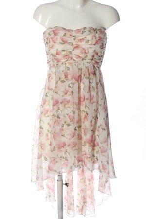 Colloseum schulterfreies Kleid weiß-pink Allover-Druck Elegant