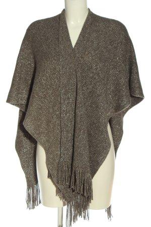 Colloseum Poncho marrone-argento puntinato stile casual