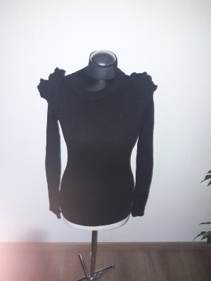 Colloseum Geribd shirt zwart