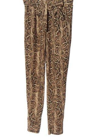Colloseum Pantalone jersey marrone stampa integrale stile casual