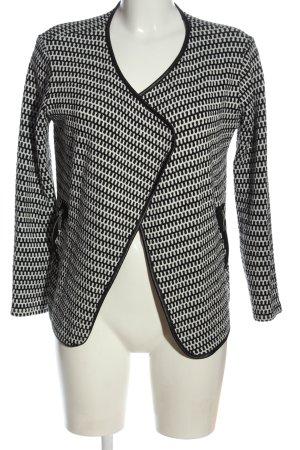 Colloseum Blazer in maglia nero-bianco stampa integrale stile professionale