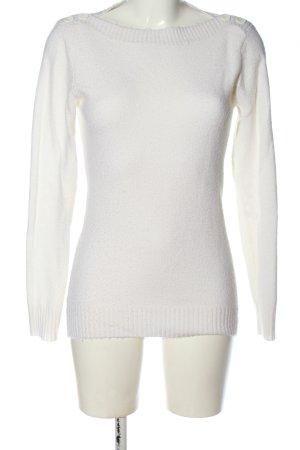 Colloseum Maglione lavorato a maglia bianco sporco stile casual