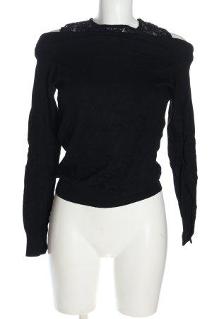 Colloseum Maglione lavorato a maglia nero stile casual