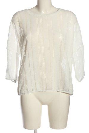 Colloseum Maglione lavorato a maglia bianco sporco punto treccia stile casual