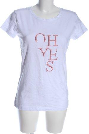 Colloseum T-Shirt türkis-braun Schriftzug gedruckt Casual-Look