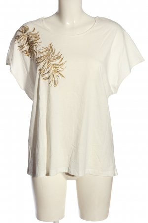 Colloseum T-shirt bianco-oro Stampa a tema stile casual