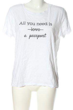 Colloseum T-Shirt weiß-blau Motivdruck Casual-Look