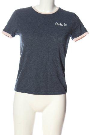 Colloseum T-Shirt blau meliert Casual-Look