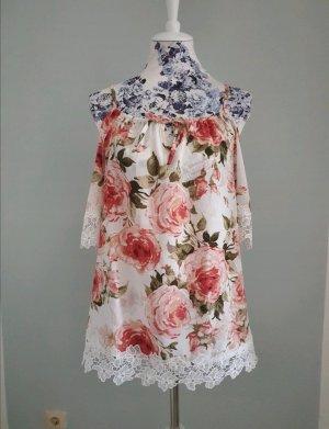 Colloseum Top Floral weiß Rosen XS S
