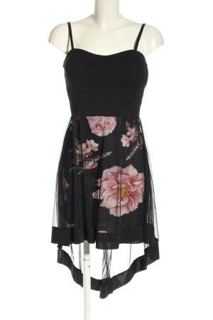 Colloseum Trägerkleid schwarz-pink Blumenmuster Casual-Look
