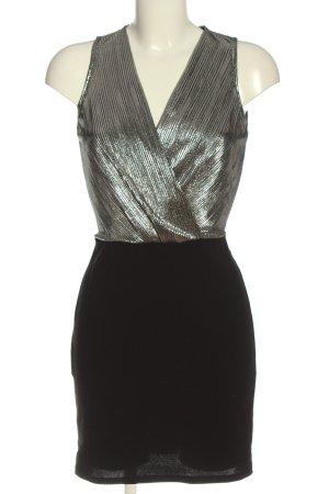 Colloseum Trägerkleid silberfarben-schwarz Elegant