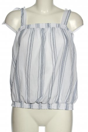 Colloseum Strappy Top white-blue striped pattern casual look