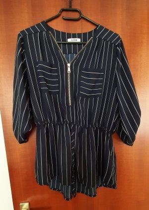 Colloseum Tunika Bluse Shirt Top Reißverschluss Nadelstreifen Streifen gestreift