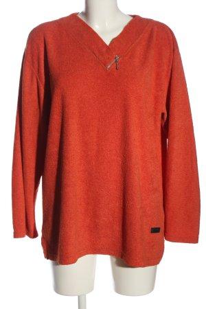 Colloseum V-Ausschnitt-Pullover hellorange Casual-Look