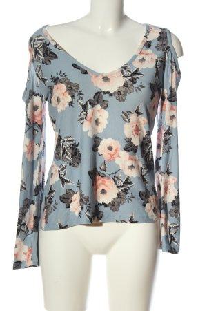 Colloseum V-Ausschnitt-Shirt Blumenmuster Casual-Look