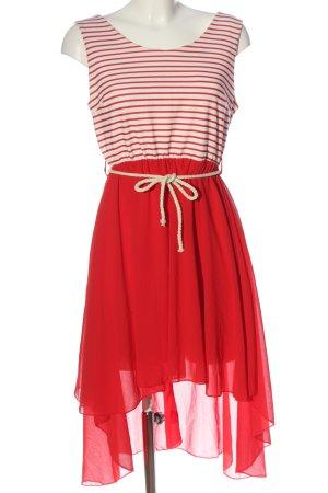 Colloseum Vestido mullet rojo-blanco puro estampado a rayas look casual