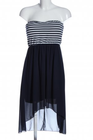 Colloseum High Low Dress white-blue striped pattern elegant