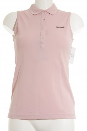 Colmar Polo Top rosa-schwarz Casual-Look