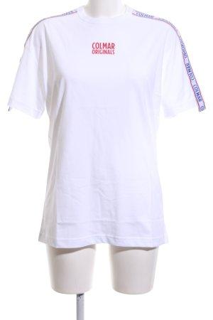 Colmar T-Shirt weiß Schriftzug gedruckt Casual-Look