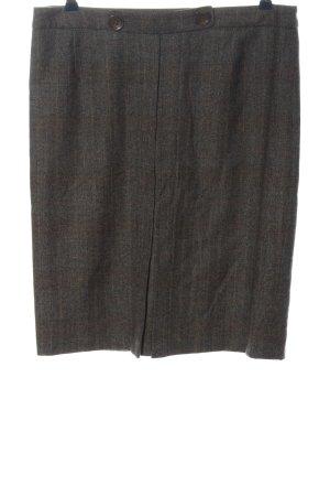 Colombo Midi Skirt light grey check pattern business style
