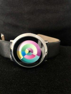 Colour Inspiration Zegarek ze skórzanym paskiem Wielokolorowy Metal