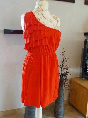 Color Me Red Jerseykleid One Shoulder Kleid *neuwertig* Größe M
