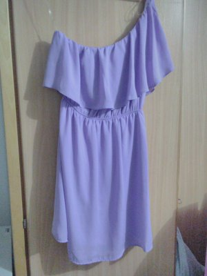 Color Me Red One Shoulder Dress purple