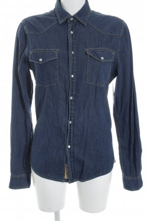 Colorado Denim Camicia denim blu scuro stile casual
