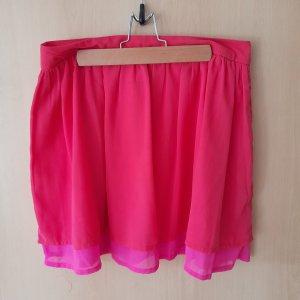 H&M Divided Broomstick Skirt pink-magenta