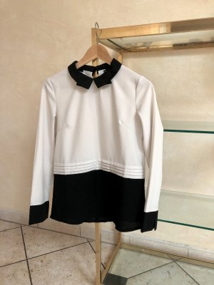 Stand-Up Collar Blouse multicolored polyester