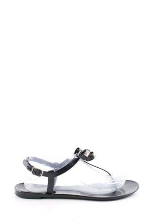 Colors of California Flip-Flop Sandals black casual look
