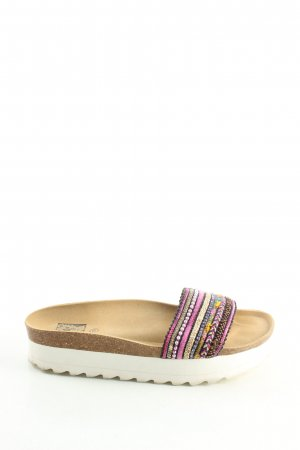 Colors of California Platform Sandals natural white-pink casual look