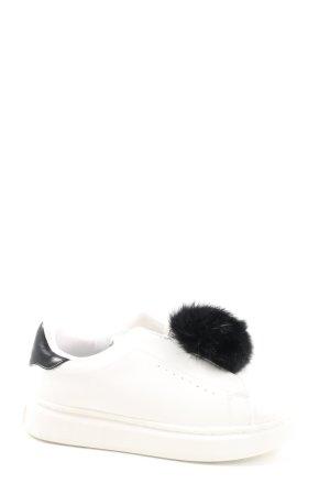 Colors of California Instapsneakers wit-zwart casual uitstraling