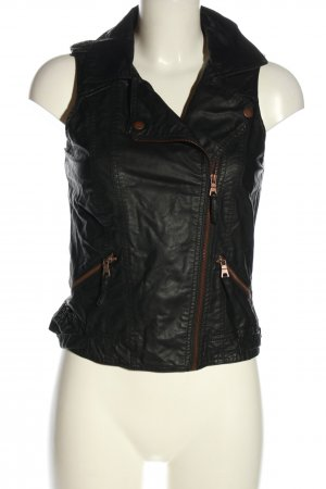 Colors of the world Biker Vest black casual look