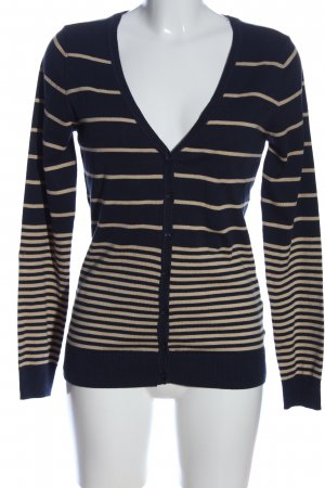 Colors of the world Cardigan blue-cream striped pattern casual look