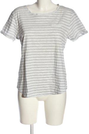 Colors of the world Maglietta a righe bianco-nero motivo a righe stile casual